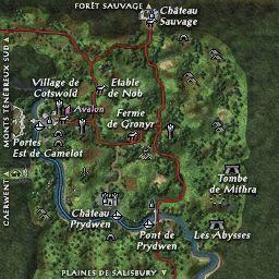 carte 000 de la zone Collines de Camelot
