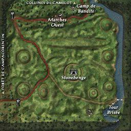 carte 001 de la zone Plaines de Salisbury