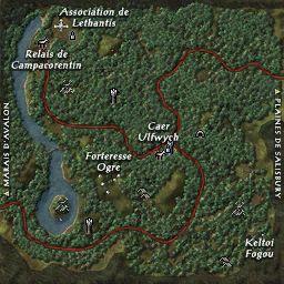 carte 008 de la zone Forêt de Campacorentin