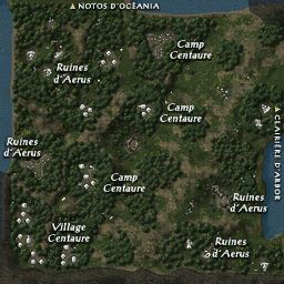 carte 043 de la zone Vertes Clairières