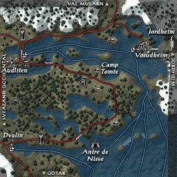 carte 101 de la zone Svealand Oriental