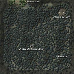 carte 156 de la zone Forêt d'Iarnwood