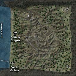carte 158 de la zone Modernagrav