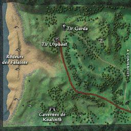 carte 203 de la zone Falaises de Moher