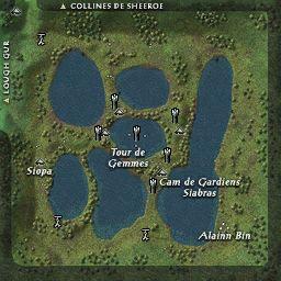 carte 205 de la zone Marais de Cullen