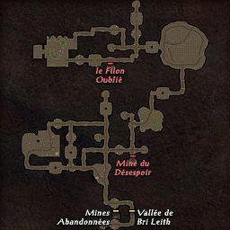 carte 220 de la zone Mines Luisantes