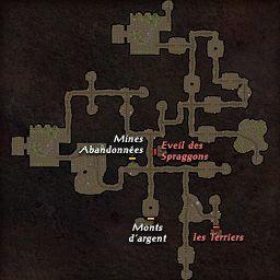 carte 222 de la zone Repaire Spraggon