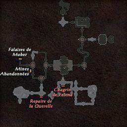 carte 223 de la zone Cavernes Tribales Koalinth