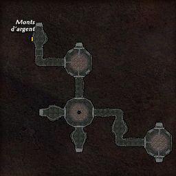 carte 466 de la zone Cavernes Obscures