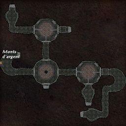 carte 467 de la zone Cavernes Obscures