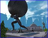 La statue d'Atlas