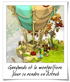 Ganymède et la montgolfière