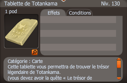 tablette de totankama