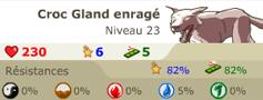 Croc Glanc Enragé