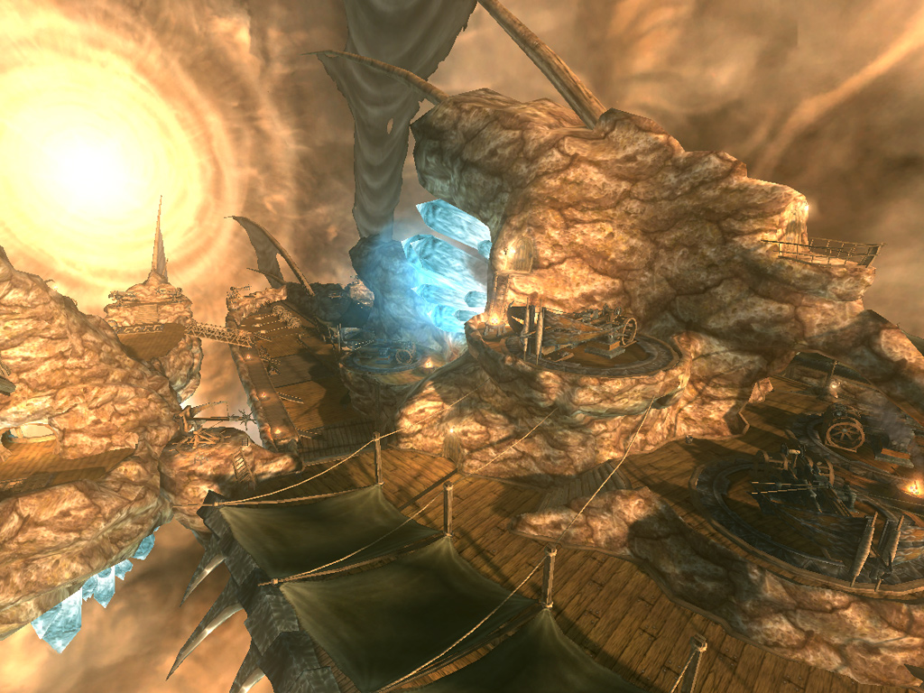 Un navire de guerre de l'Enclave dans la Tempête du Deadspell