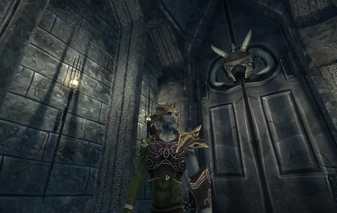 Porte menant à la première salle des Épreuves