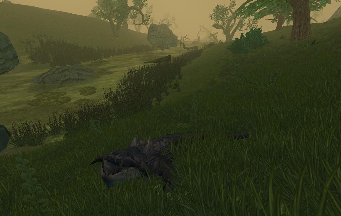 Les marais de Cairnbog sont emplis de dangereuses créatures.