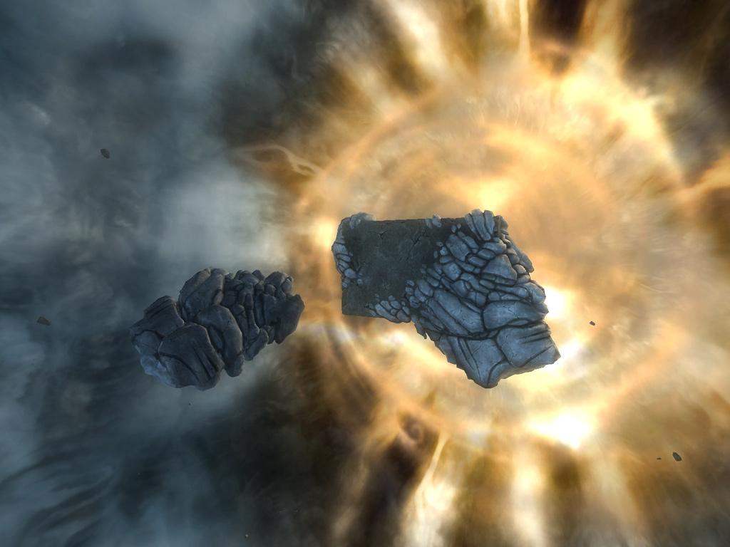 Extérieur d'un royaume-fragment dans la Tempête du Deadspell