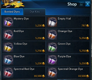 Vendeur de teinture
