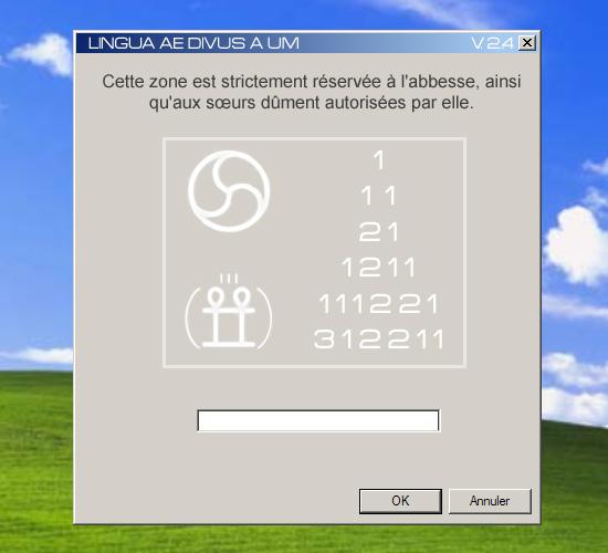 illustration : capture d'écran du programme