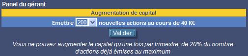 Augmentation capital
