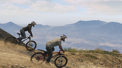 GTA Online - Course deux roues