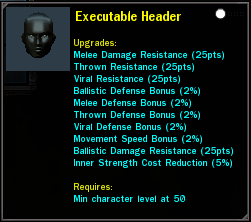 Executable Header