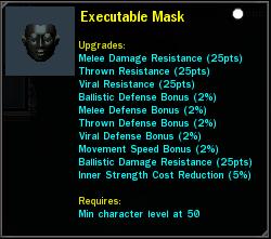 Executable Mask