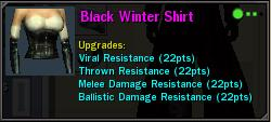 Black Winter Shirt