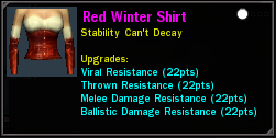 Red Winter Shirt