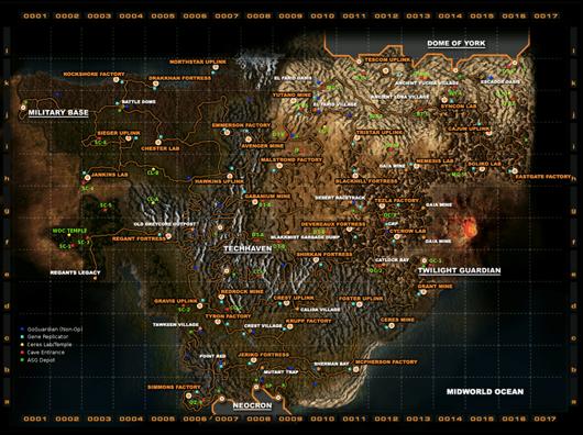 Carte du jeu Neocron 2