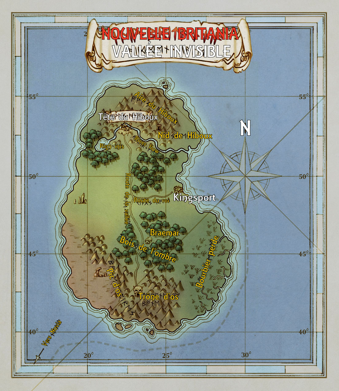 Carte du monde de Shroud of the Avatar