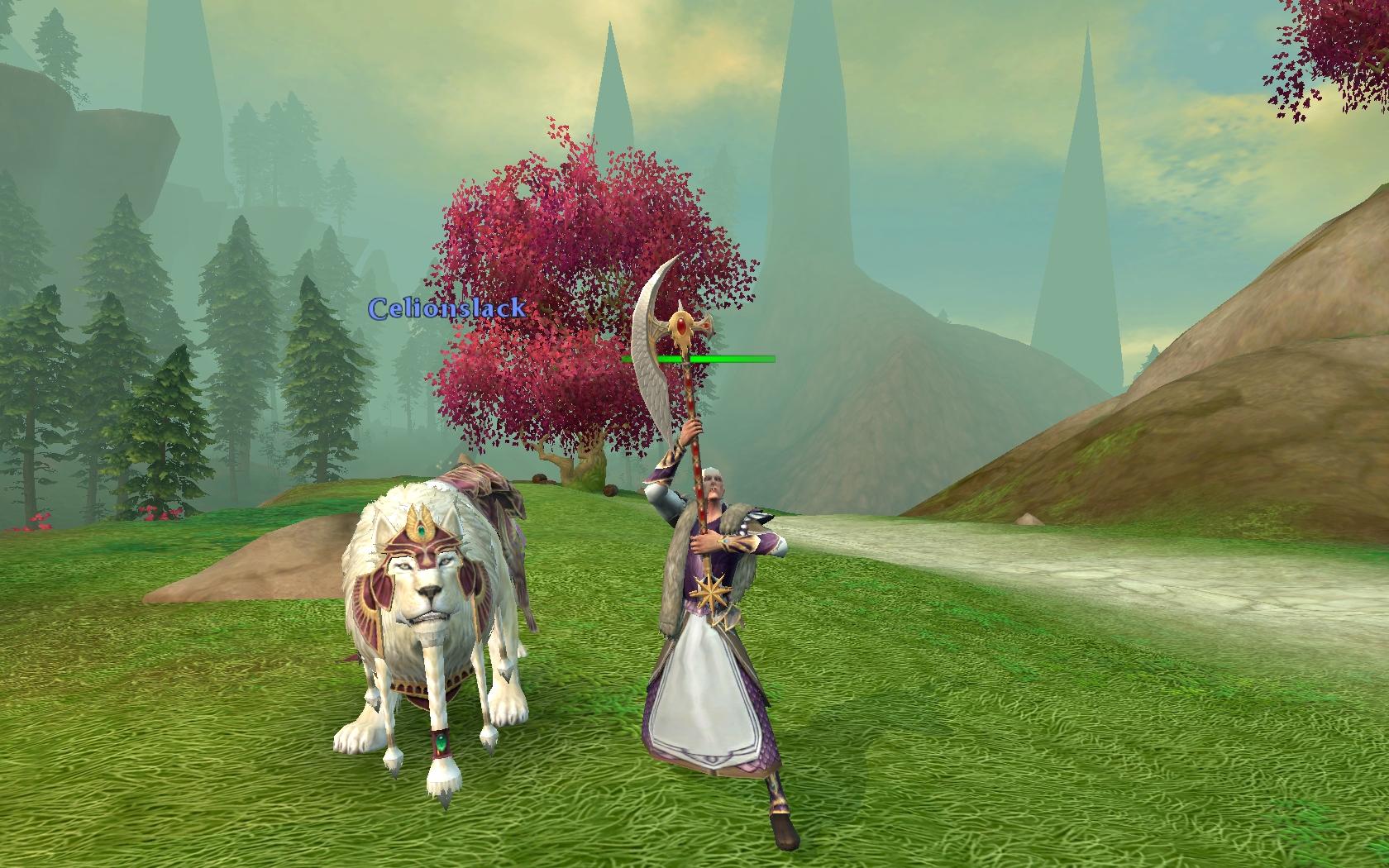 Un Lion blanc et son familier