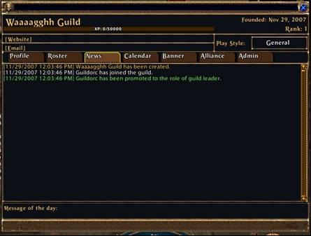 Actualités de la Guilde
