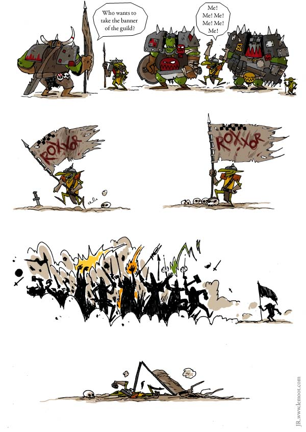Comic done by Lobster Johnston from Le Moot Blog for WAR-JOL