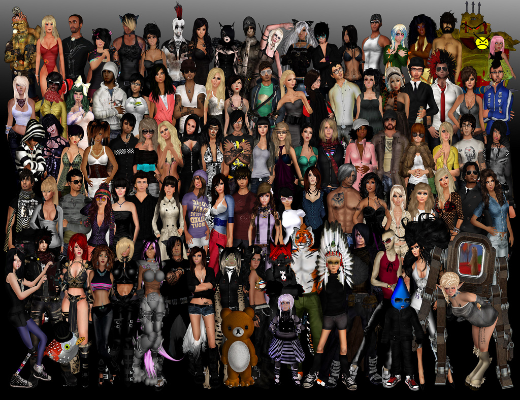 Les avatars de Second Life - par James Schwarz